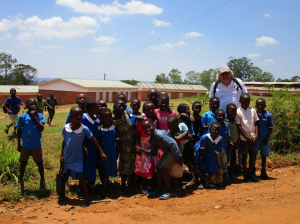 Paul with primary pupils