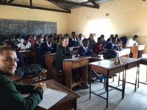 pupils attending classes with their malawian counterparts