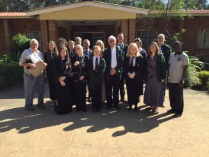 the group meeting the bishop of the mzuzu diocese john ryan